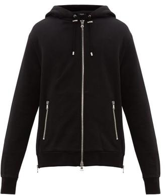Balmain Eagle Logo-print Zip-through Cotton Track Jacket - Mens - Multi