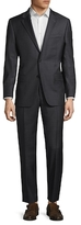 Hickey Freeman Wool Solid Notch Lapel Suit