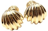 Tiffany & Co. 18K Yellow Gold Scalloped Shell Cufflinks