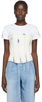 Balmain Blue Denim Corset