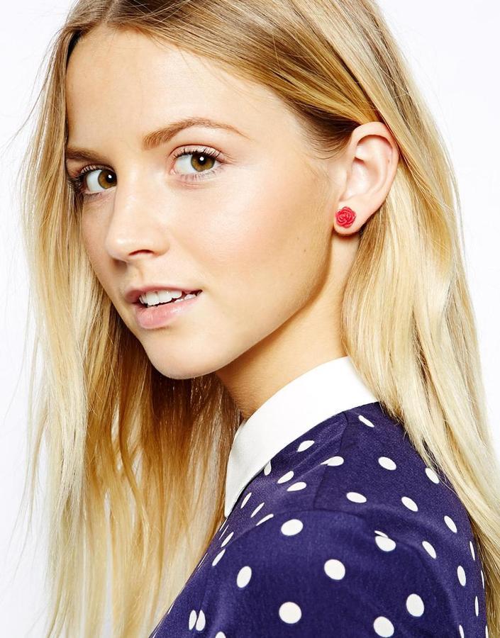Cath Kidston Rose Stud Earrings