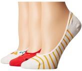 Kate Spade Orangerie 3-Pack Liner Women's No Show Socks Shoes