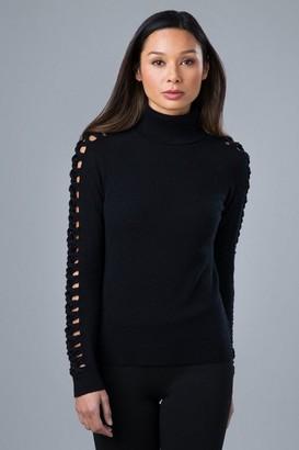 Kinross Lattice Sleeve Polo Knit - Large
