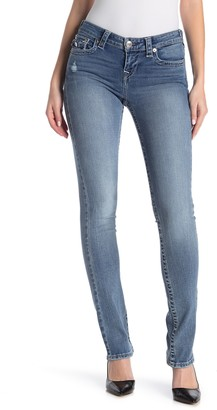 True Religion Billie Flap Pocket Mid Rise Straight Jeans