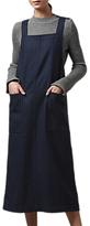 Toast Pinstripe Wool Apron Dress, Dark Navy