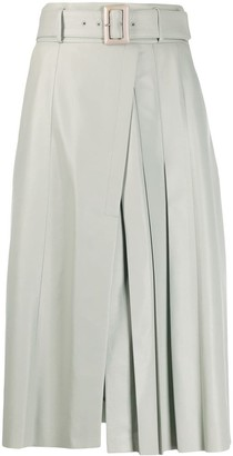 Drome Pleated Mid-Length Skirt