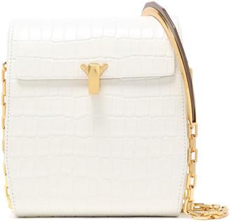 THE VOLON Po Box Croc-effect Leather Shoulder Bag