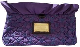 Louis Vuitton Purple Silk Clutch bags