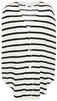 MM6 MAISON MARGIELA Oversized Striped Knitted Cardigan
