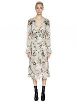 Lover Rosemary Silk Wrap Dress