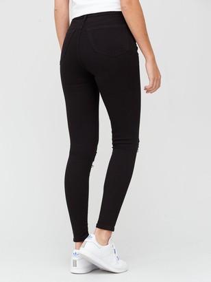 Very SustainablePremium High Waist Vari Rip Skinny Jeans - Black