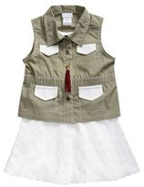 Sweet Heart Rose Sweetheart Rose Little Girl's Three-Piece Crochet Dress, Vest & Fringe Necklace