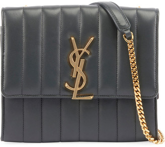 Saint Laurent Vicky Medium Monogram Chain Crossbody Bag