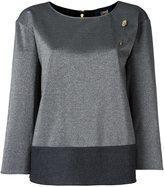 Class Roberto Cavalli colour block knit top