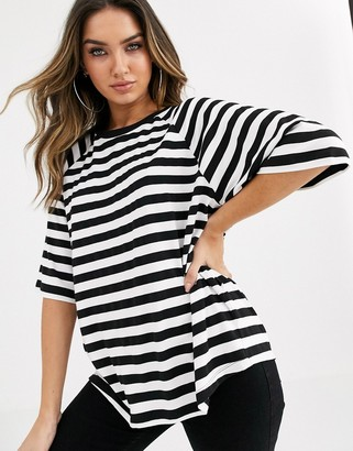 ASOS DESIGN oversized boxy t-shirt in stripe