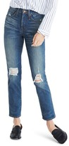 Madewell Women's Distressed Slim Straight Leg Jeans