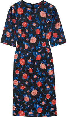 Lela Rose Holly Embroidered Organza Dress