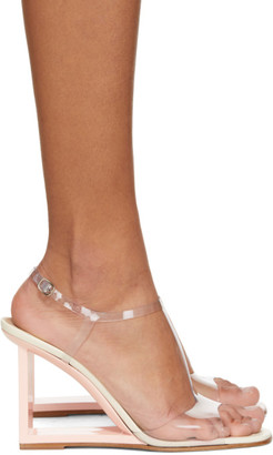 A.W.A.K.E. Mode Transparent and Pink Mrs. Right Angle Sandals