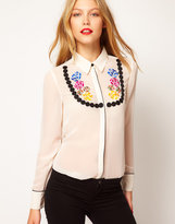 Asos Shirt With Embroidered Necklace