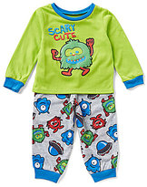 Komar Kids Little Boys 2T-4T Scary Cute Monster Pajama Top & Pants Set