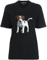 Markus Lupfer sequin dog T-shirt