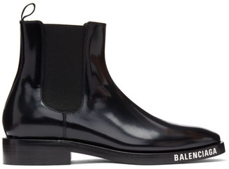 Balenciaga Black Evening Boots