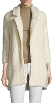 Maje Boucle Notch Lapel Cardigan