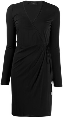 DSQUARED2 Long-Sleeved Wrap Dress