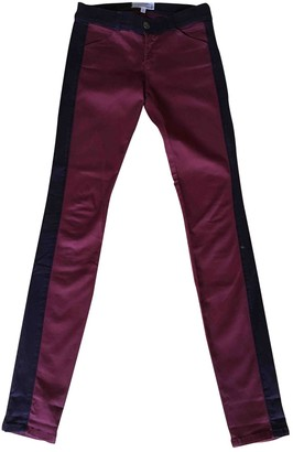 Current/Elliott Current Elliott Burgundy Cotton Jeans