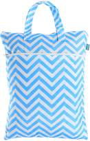 Teamoy Travel Hanging Wet Dry Bag (17.3*13.4 inches) for Cloth Diapers Dirty Clothes Organizer Tote Bag