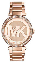Michael Kors Parker Stainless Steel Logo Dial Watch