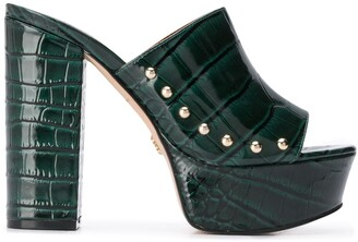 Kurt Geiger Bree platform sole croc-embossed sandals