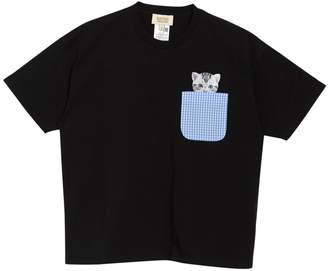Paul & Joe Sister Chatouille Cat Gingham Pocket T-Shirt