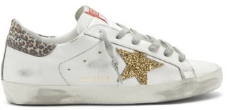 Golden Goose Superstar Leather Trainers - White Gold