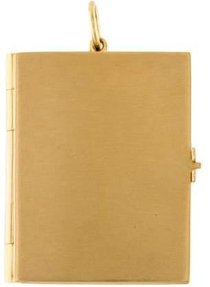 Monica Rich Kosann 18K Heritage Book Charm