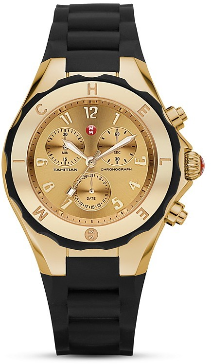 Michele Tahitian Mirrored Faces Jellybean Watch, 39 mm