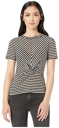 AllSaints Jess Stripe Tee (Chalk/Ink Blue) Women's Clothing