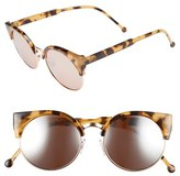 BP Women's 'Free Spirit' 55Mm Sunglasses - Brown Tortoise