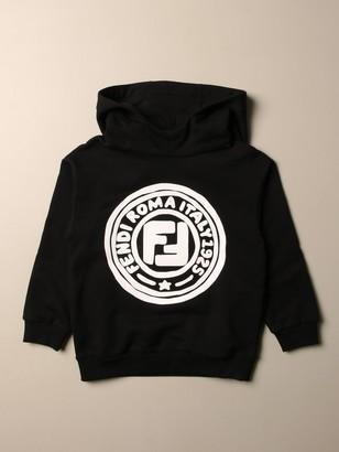 Fendi Hooded Sweatshirt With Roma 1925 Logo
