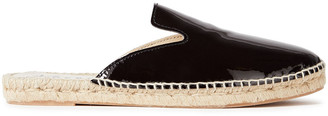 Manebi Patent-leather Espadrille Slippers