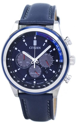 Citizen Men's Eco-Drive CA4031-07L Blue Leather Dress Watch, 43mm