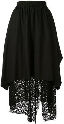 GOEN.J Overlay Mesh Lace Skirt