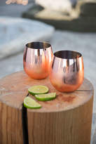 Urban Outfitters Copper Stemless Wine Glass - Set Of 2