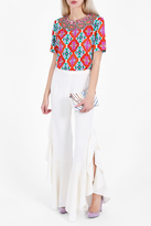 Andrew Gn Embroidered Print Top