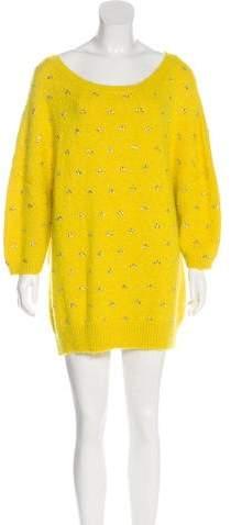 Dries Van Noten Alpaca & Merino Wool-Blend Knit Dress