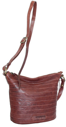 Nino Bossi Handbags Women's Handbags Chestnut - Chestnut Saige Leather Crossbody Bag
