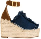 Chloé 'Isa' denim wedge sandals