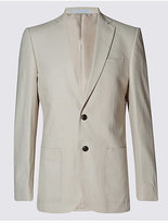 M&S Collection Linen Rich Regular Fit Jacket