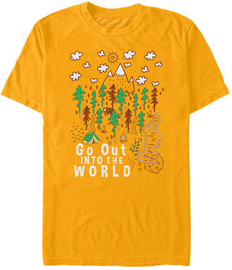 Fifth Sun Men's Tee Shirts GOLD - Gold 'Go Out Into The World' Tee - Men
