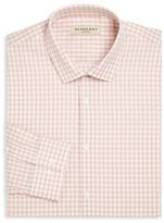 Burberry Gingham Checked Regular-Fit Cotton Dress Shirt